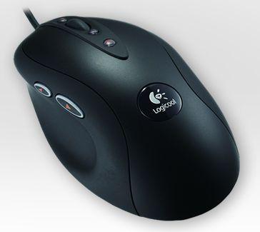 サイドボタンのあるマウスの例